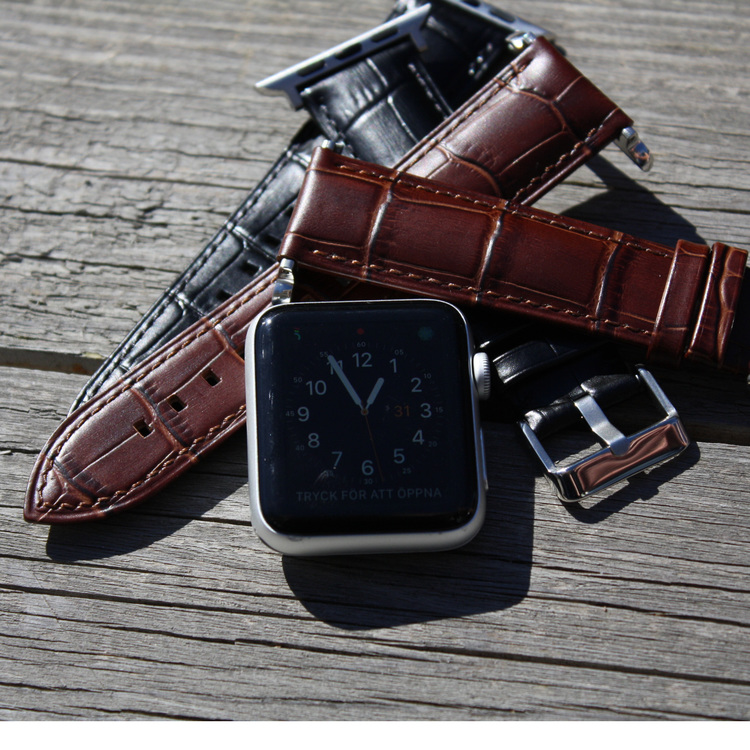 Apple Watch läderarmband - svart