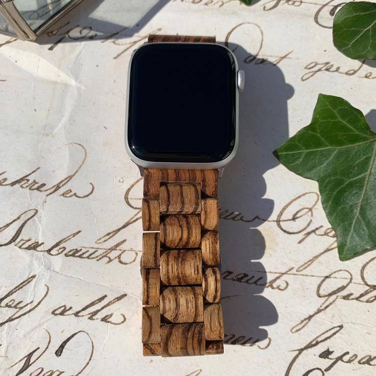 Apple Watch armband i trä - brun
