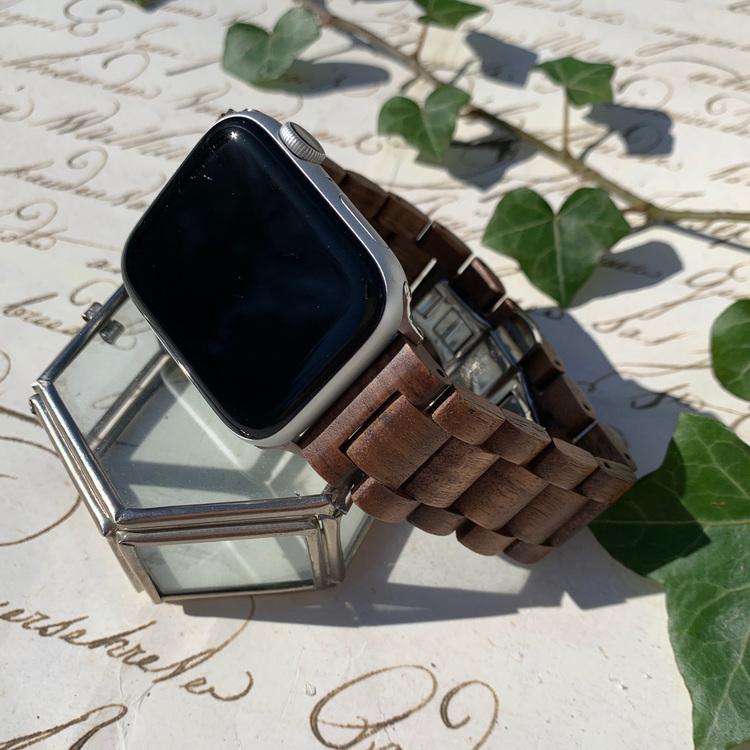 Apple Watch armband i trä - coffee