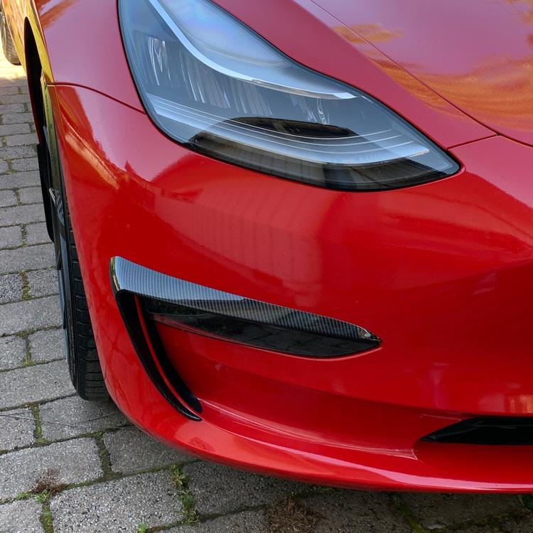 Ögonfransar i ABS carbon fiber - Tesla Model 3