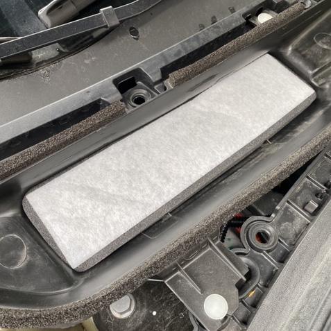 Luftfilter ventialtionen i frunken - Tesla Model 3