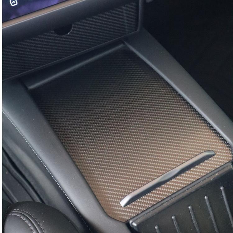 Wrap till mittkonsollen, carbon fiber - Tesla Model S