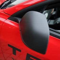 Kåpor till backspeglarna, matt svarta - Tesla Model 3