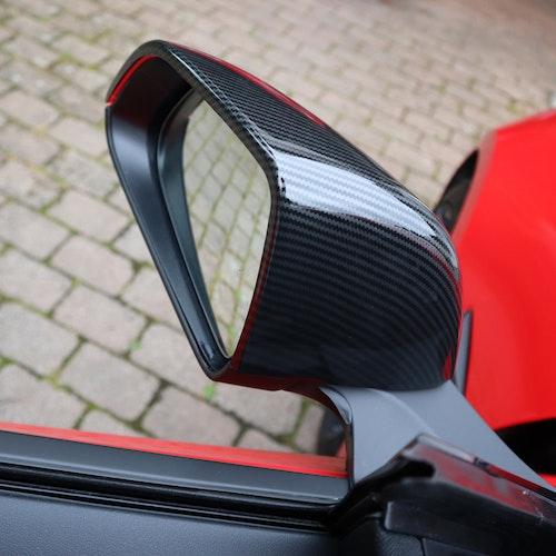 Kåpor till sidospeglarna, carbon fiber, ABS - Tesla Model 3