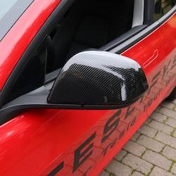 Kåpor till backspeglarna, carbon fiber glossy - Tesla Model 3