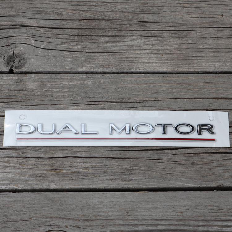 Dekal Dual Motor, silver - Tesla Model 3/S/X