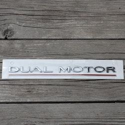 Dekal Dual Motor, silver - Tesla Model 3/S/X/Y
