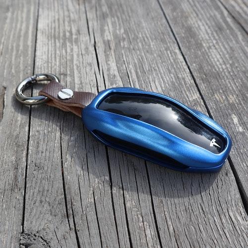 Nyckelhållare - aluminium - blå - Tesla Model S