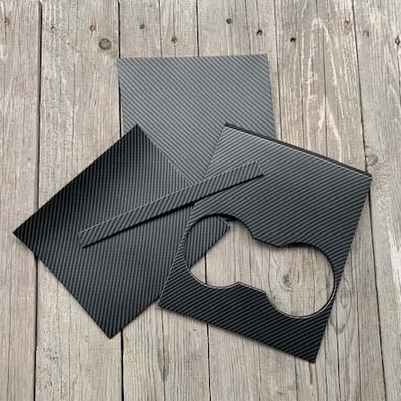 Paneler t centerkonsollen matt carbon fiber - Tesla Model 3