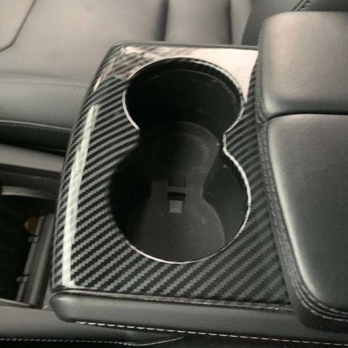 Panel mugghållaren carbon fiber glossy - Tesla Model S/X