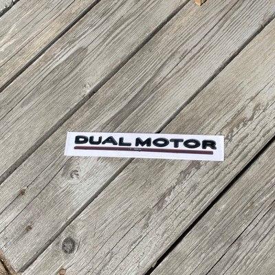 Dekal Dual Motor, svart - Tesla Model S/3/X/Y