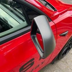 Kåpor till backspeglarna, matt carbon fiber - Tesla Model 3