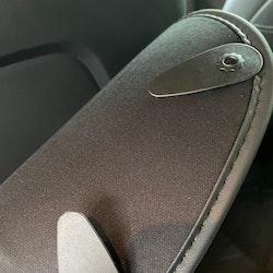 Antikick t framsätena, svart hel modell - Tesla Model 3/Y