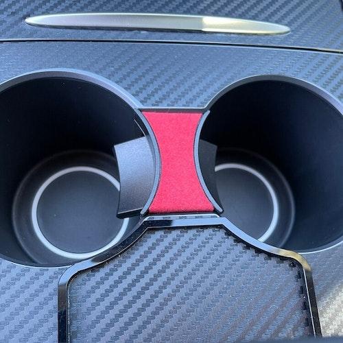 Fjädrande insats t mugghållaren, röd - Tesla Model 3 2021/Y