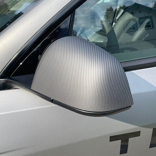 Kåpor till backspeglarna, matt carbon fiber - Tesla Model Y