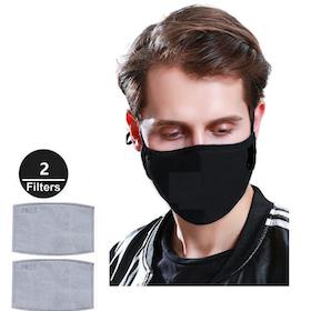 Munskydd N95 - svart professional skydd med 2 st kolfilter (i lager igen 3. dec)