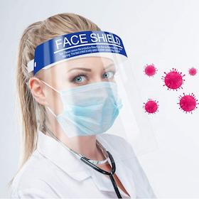 Ansiktsvisir / Skyddsvisir med huvudband face shield unisex
