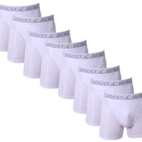 8 Pack vit färg Högstaberg  Boxer Shorts-Kalsonger