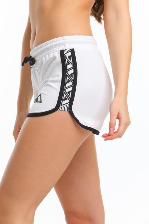 Sport Shorts -Vit-Svart färg