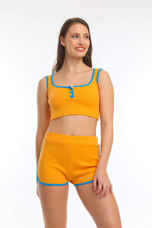 Crop top och shorts set