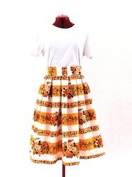 SARA, kjol med veckad midja 92 cm