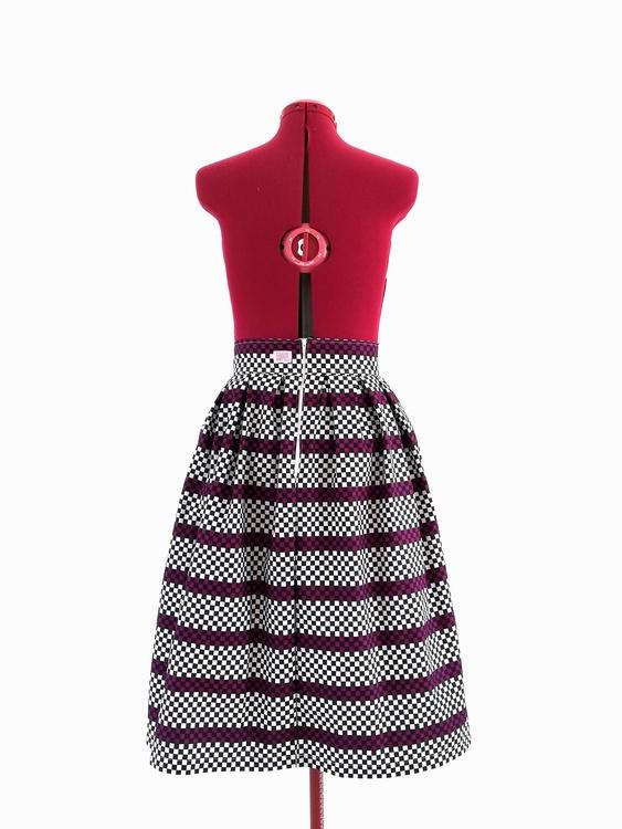 SARA, kjol med veckad midja 74 cm