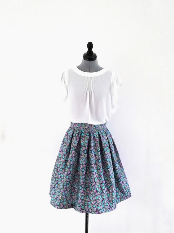 SARA, kjol med veckad midja 72 cm