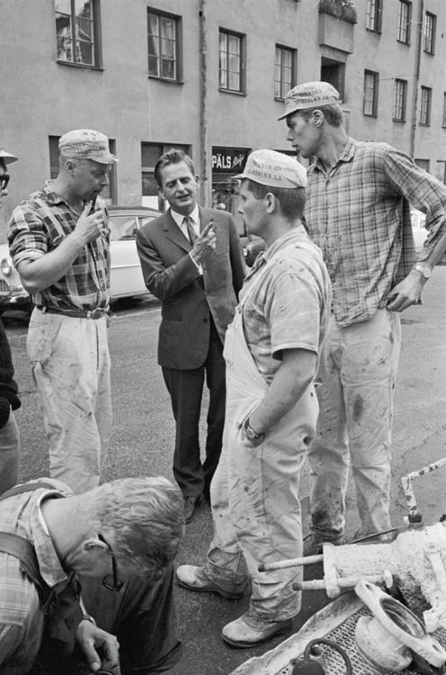 Palme och arbetarna - Fotografier av Jean Hermanson under valrörelsen 1968