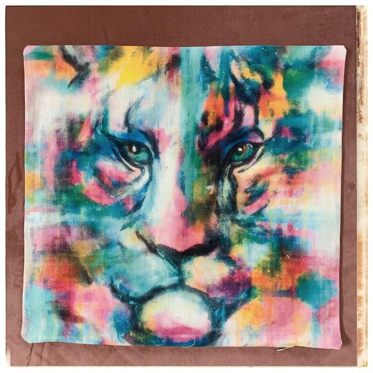 "Kuddfodral Bomull/ lin 40*40 ""tiger color"""