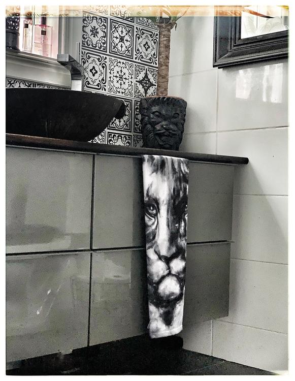 Gästhandduk Tiger black 50*70 cm