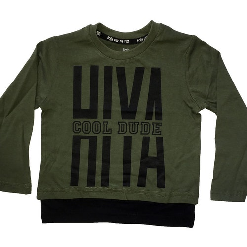 Grön tröja stl 86/92-134/140