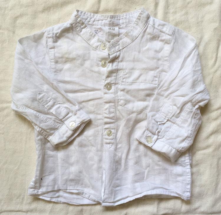 Vit skjorta stl 68