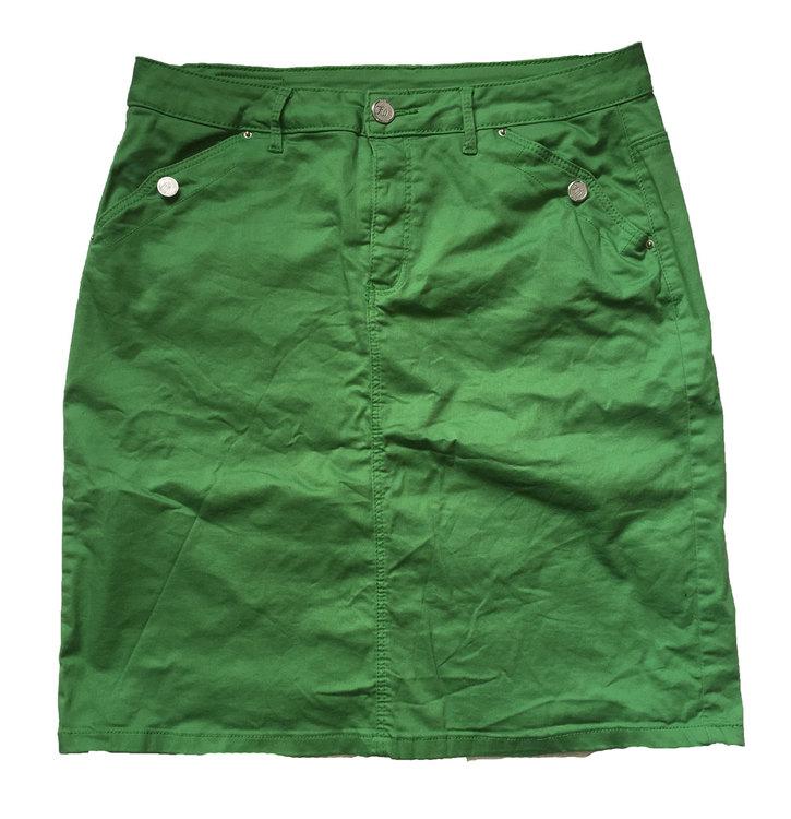 Grön jeanskjol stl XL