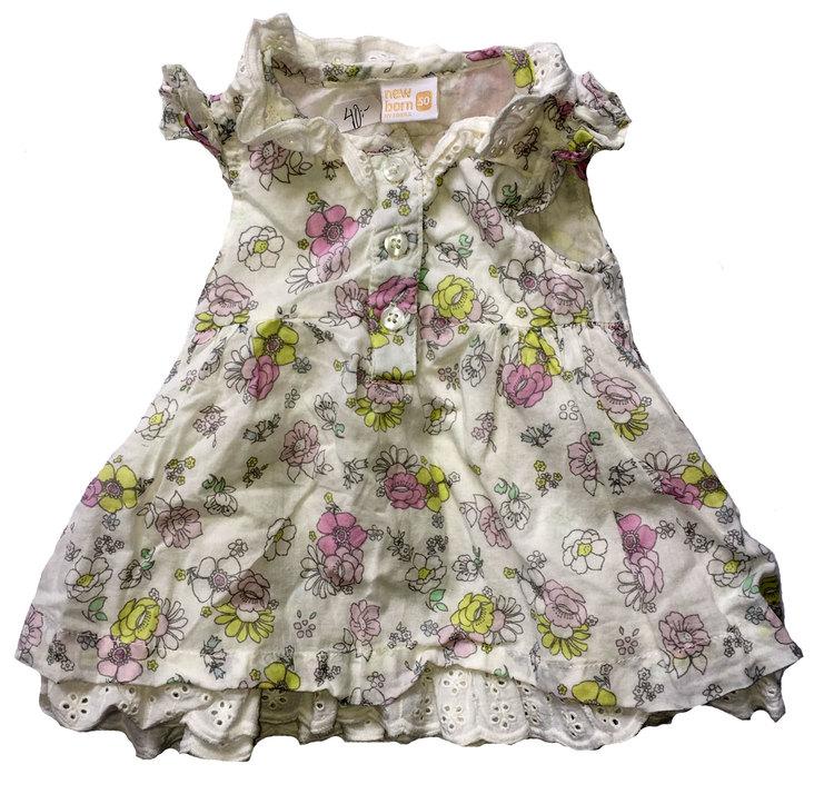Blommig klänningstl 50