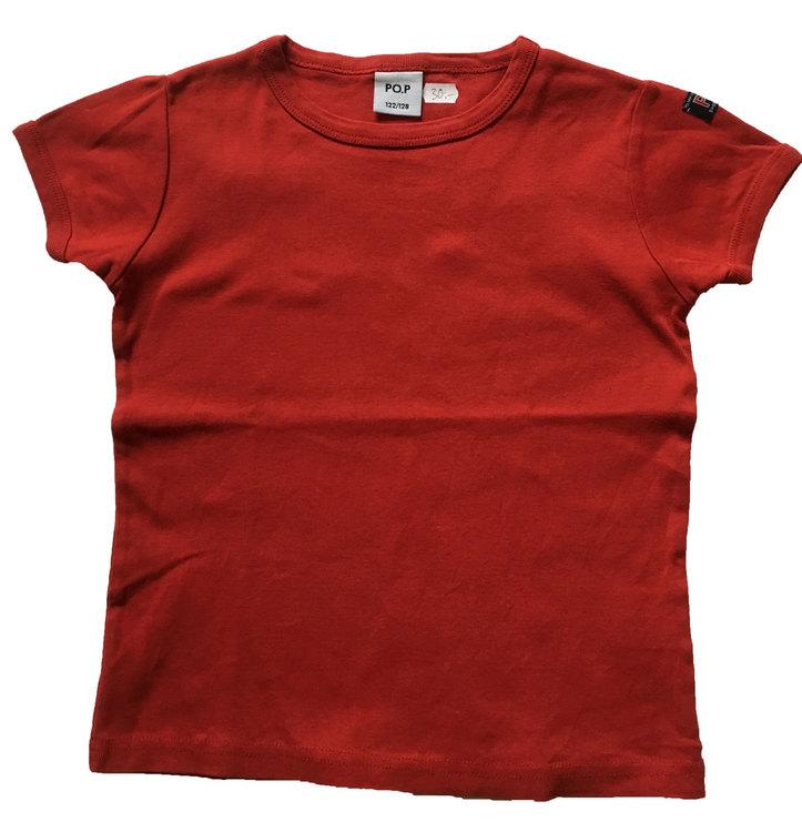 Röd t-shirt stl 122/128