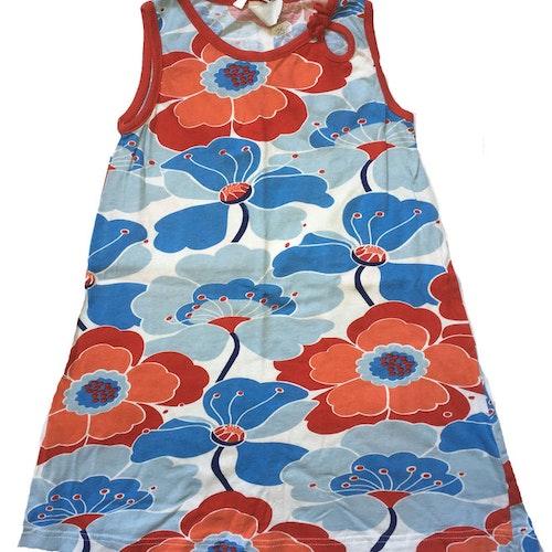 Blommig klänning stl 128