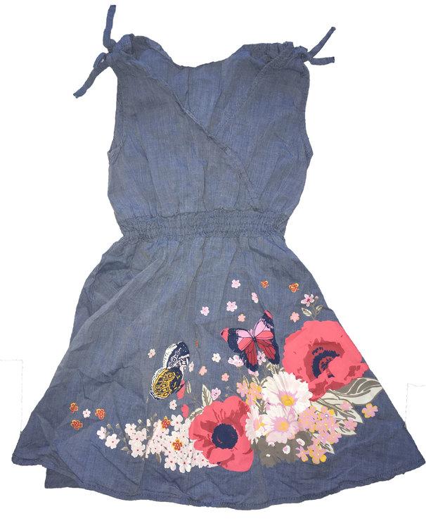 Blå klänning stl 104
