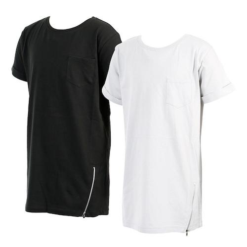 T-shirt svart, grå stl 122/128-170