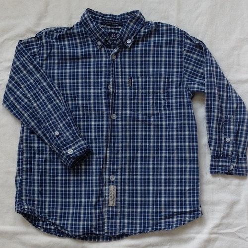 Blårutig skjorta stl 104