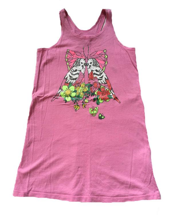 Rosa klänning stl 122/128