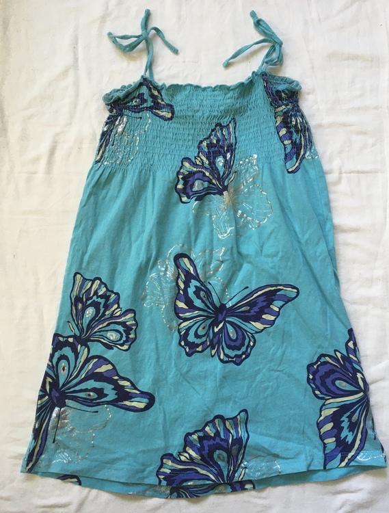 Turkos klänning stl 158/164