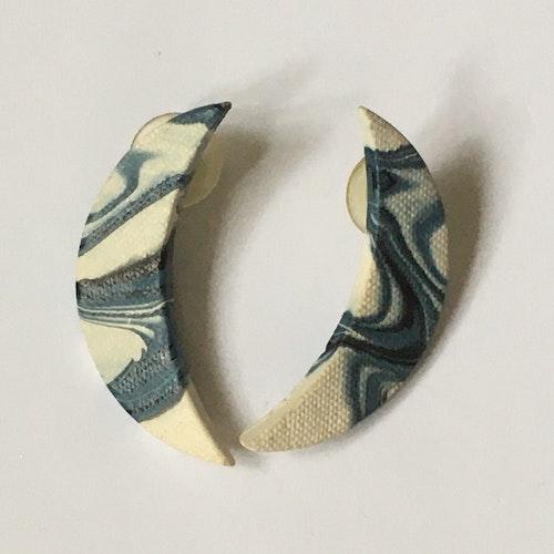 Blåvita örhängen