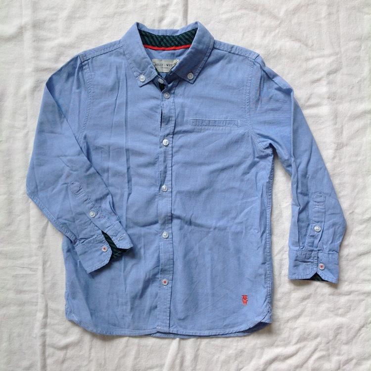 Blå skjorta stl 122