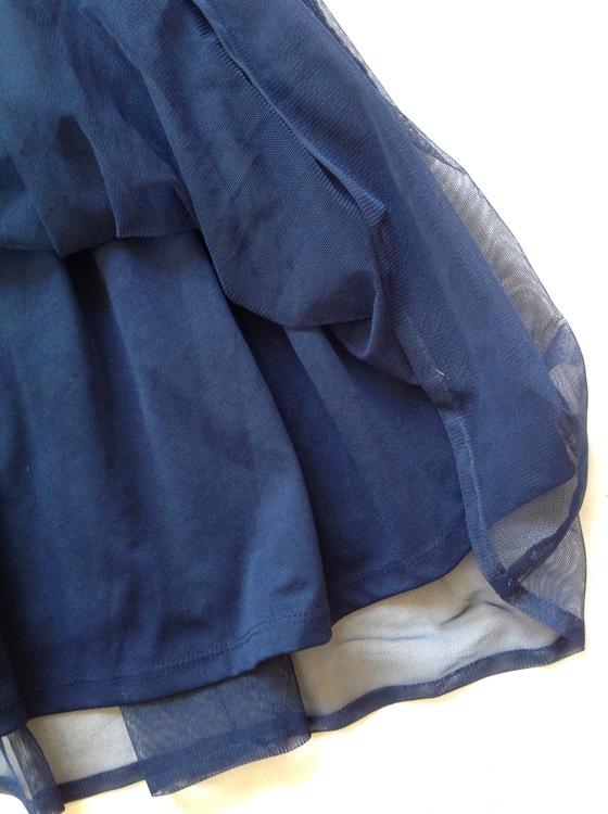 Blå finklänning stl 140