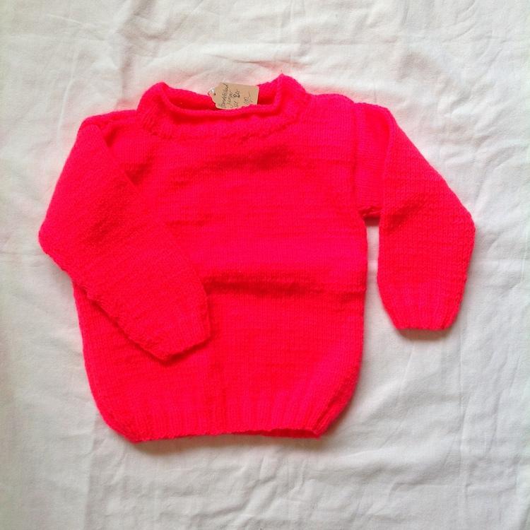 Rosa stickad tröja stl 92