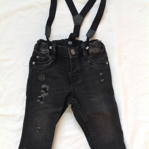 Svarta jeans stl 68