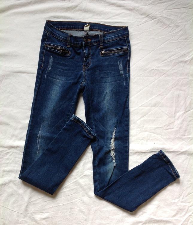 Blå jeans stl 164