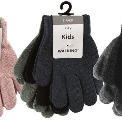 3-pack fingervantar stl 1-4 år