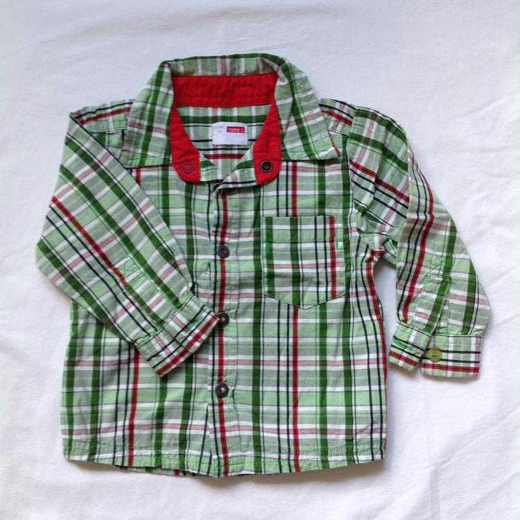 Grönrutig skjorta stl 74