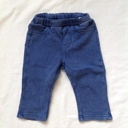 Blå mjukisbyxor stl 68